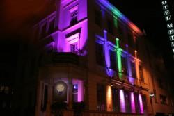 Irish Pub Koblenz beleuchtet