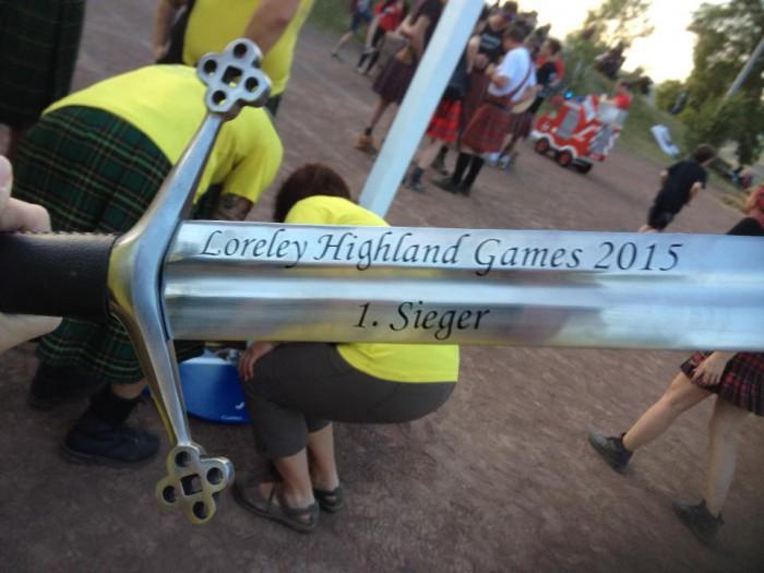 1. Sieger Highland Games 2015 auf der Loreley