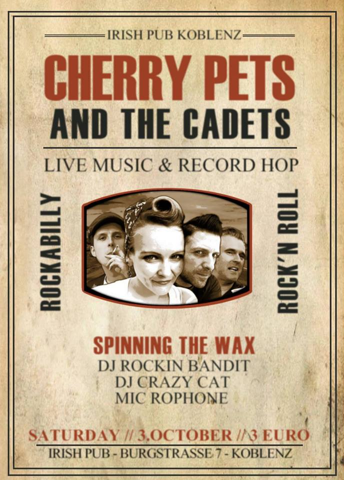 Cherry Pets and The Cadets - Live im Irish Pub Koblenz